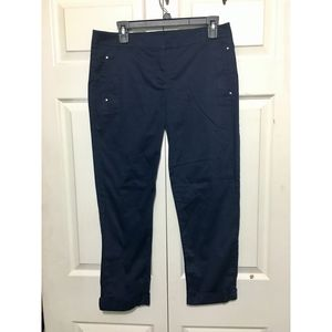 White House Black Market Crop Leg Pants Size 6 Blu